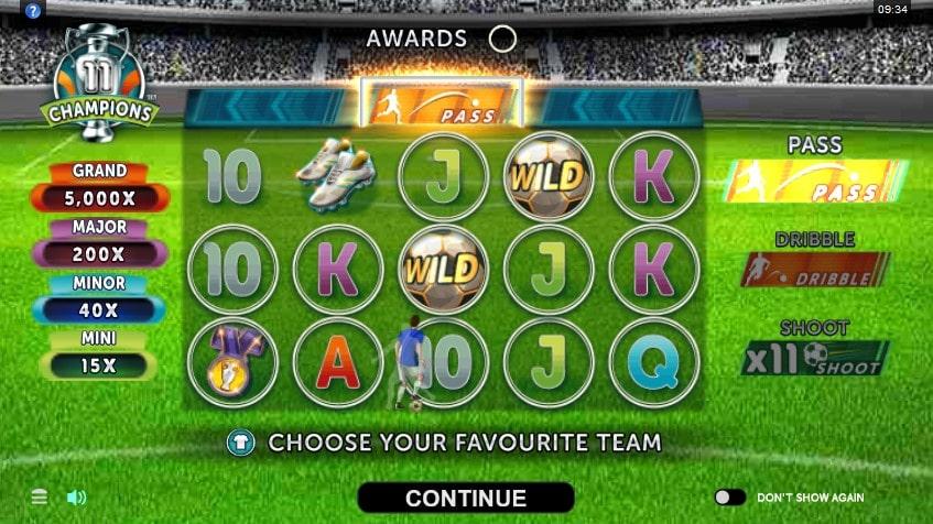 Игровой автомат 11 Champions в Jozz Casino