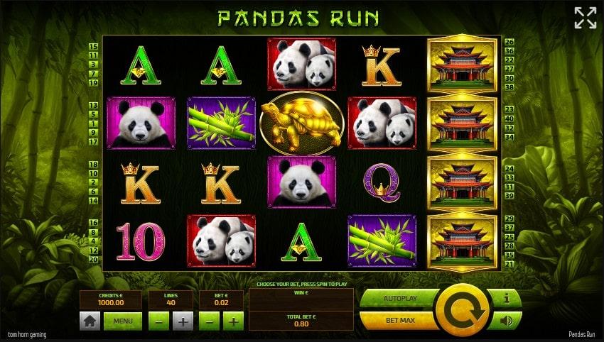 Онлайн слот Panda's Run в казино Джозз