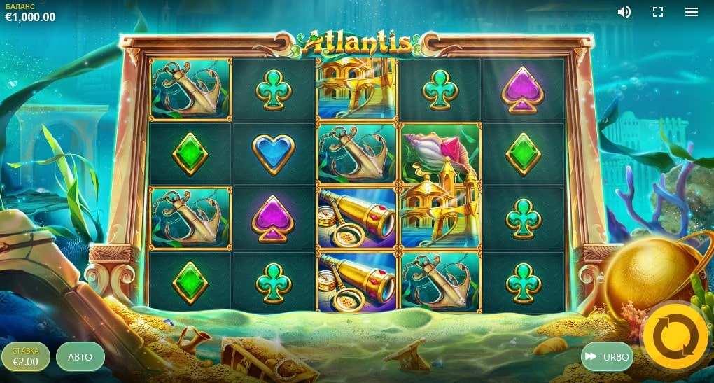 Обзор онлайн слота Atlantis